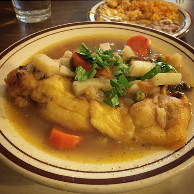 Its chile relleno soup time! Come in for todays special