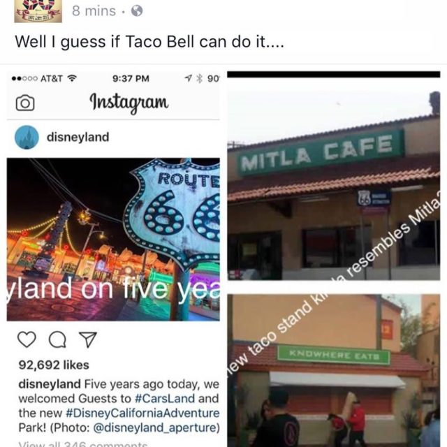 New taco stand disneyland Looks familiar